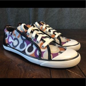 Coach Shoes - Women's COACH Barrett Purple Rock Sneakers Sz 9.5M